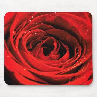 Mousepad Tapete do rato da rosa vermelha