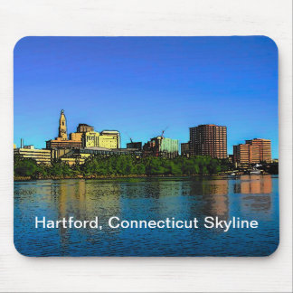 Mousepad Tapete do rato da skyline de Hartford Connecticut