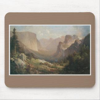 Mousepad Tapete do rato das belas artes do vale de Yosemite