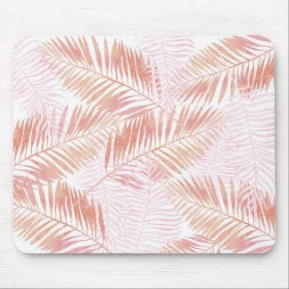 Mousepad Tapete do rato das folhas de palmeira do rosa & do