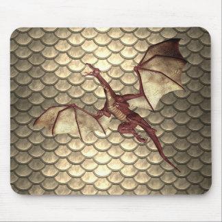 Mousepad Tapete do rato de bronze desvanecido da fantasia