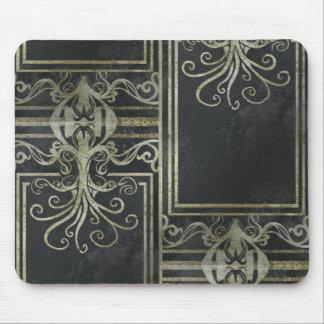 Mousepad Tapete do rato de Eldrich (ouro & preto) Tileing