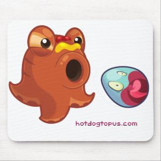 Mousepad Tapete do rato de Hotdogtopus do polvo do Hotdog