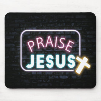 Mousepad Tapete do rato de Jesus do elogio para cristãos