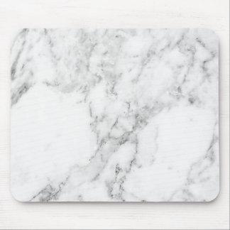 Mousepad Tapete do rato de mármore branco e cinzento
