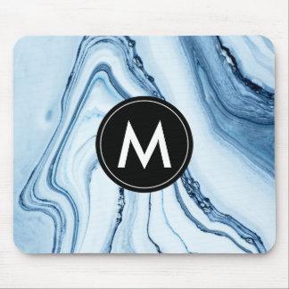 Mousepad Tapete do rato de mármore chique do monograma
