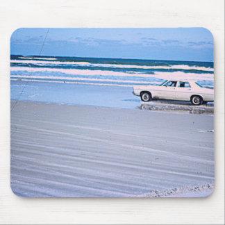 Mousepad Tapete do rato do carro da praia do vintage