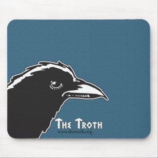 Mousepad Tapete do rato do corvo do Troth