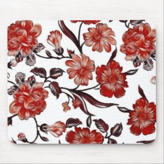 Mousepad Tapete do rato do design floral do vintage -