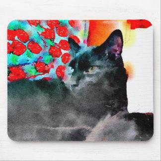 Mousepad Tapete do rato do gato preto