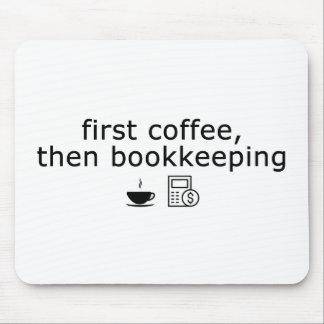 Mousepad Tapete do rato do guarda-livros - primeiro café