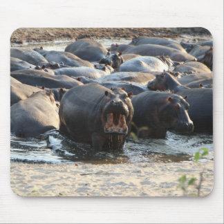 Mousepad Tapete do rato do hipopótamo