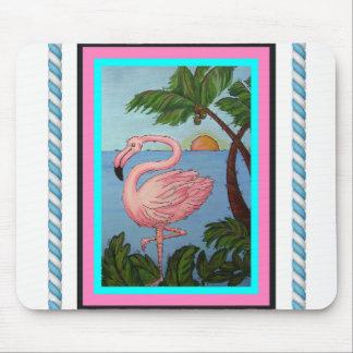 Mousepad Tapete do rato do paraíso do flamingo