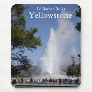 Mousepad Tapete do rato do parque nacional de Yellowstone