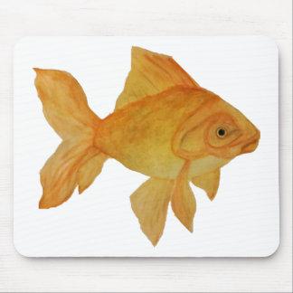 Mousepad Tapete do rato do peixe dourado da aguarela