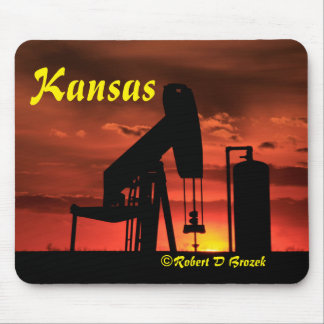 Mousepad Tapete do rato do por do sol de Kansas