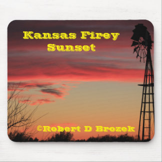 Mousepad Tapete do rato do por do sol de Kansas Firey