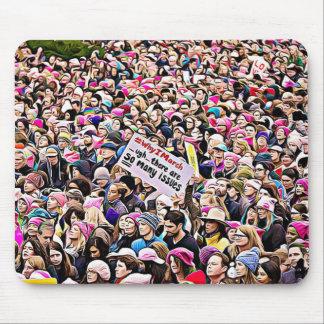 Mousepad Tapete do rato do protesto do trunfo do março das