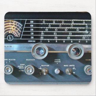 Mousepad Tapete do rato do rádio da onda curta do vintage