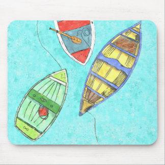 Mousepad Tapete do rato dos barcos do verão em repouso