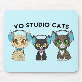Mousepad Tapete do rato dos gatos do estúdio do Vo