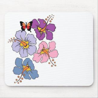 Mousepad Tapete do rato floral e da borboleta