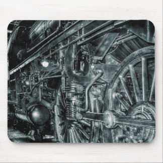 Mousepad Tapete do rato locomotivo retro do motor de vapor
