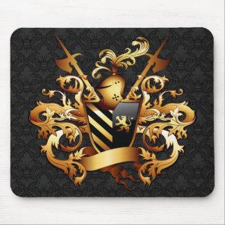 Mousepad Tapete do rato medieval da brasão