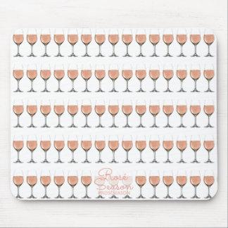 Mousepad Tapete do rato modelado do vidro de vinho rosé