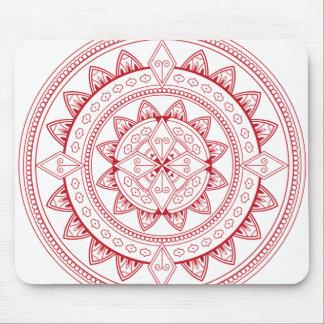 Mousepad Tapete do rato Mystical vermelho e branco da