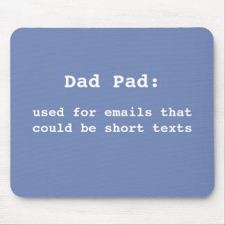 Mousepad Tapete do rato para o pai