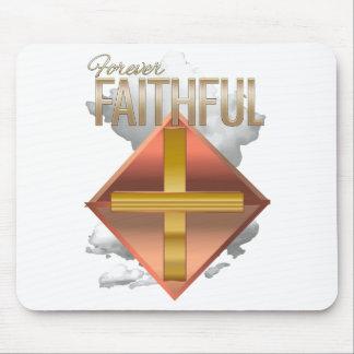 Mousepad Tapete do rato para sempre fiel do cristão do