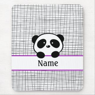 Mousepad Tapete do rato personalizado roxo da panda
