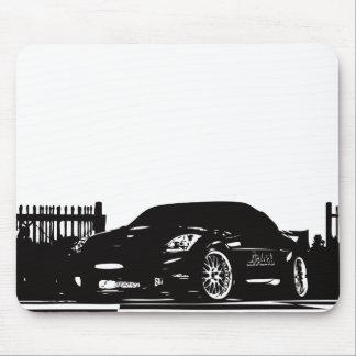 Mousepad Tapete do rato preto de Nissan 350Z