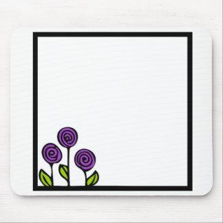 Mousepad Tapete do rato roxo da flor