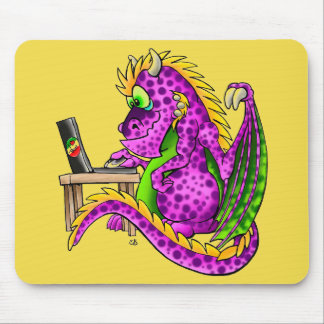 Mousepad Tapete do rato roxo do dragão