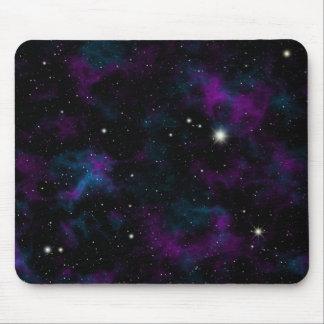 Mousepad Tapete do rato roxo e azul da galáxia