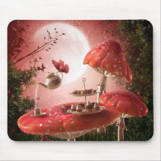 Mousepad Tapete do rato surreal do tea party