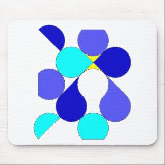 Mousepad Tapete rato motivo geométrico azul e amarelo