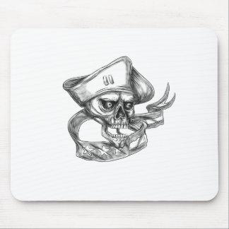 Mousepad Tatuagem da fita da bandeira dos EUA do patriota