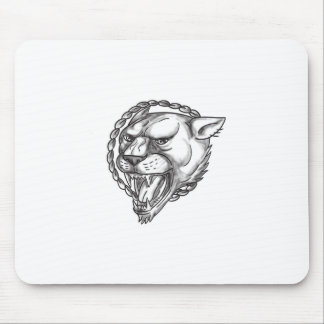 Mousepad Tatuagem do círculo da corda da rosnadura da leoa