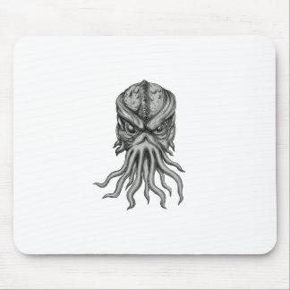 Mousepad Tatuagem subterrâneo da cabeça do monstro de mar