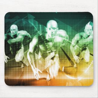Mousepad Tecnologia avançada como ELE fundo do conceito