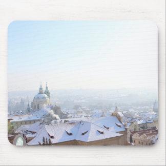 Mousepad Telhados do inverno de Praga