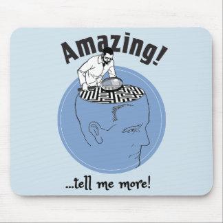 Mousepad Terapeuta, cérebros humanos do estudo do psicólogo