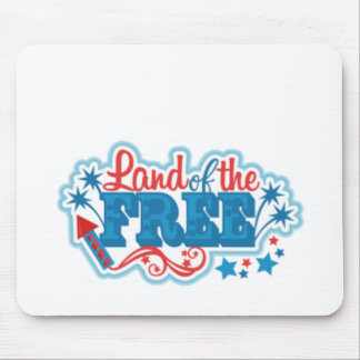 Mousepad Terra dos presentes americanos Livres, liberdade