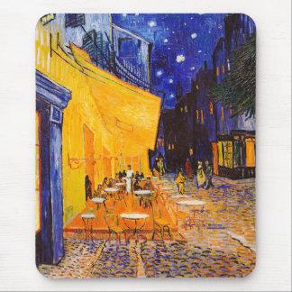 Mousepad Terraço do café de Vincent van Gogh na noite