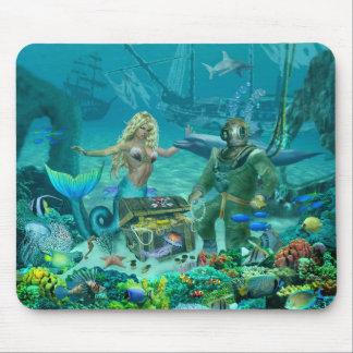 Mousepad Tesouro do recife de corais da sereia