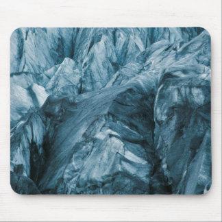 Mousepad Teste padrão abstrato na geleira | Islândia