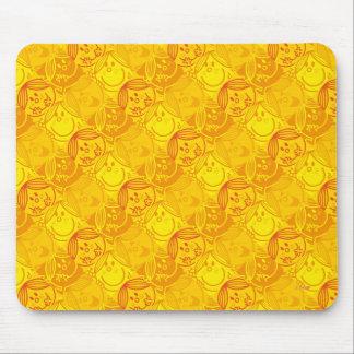Mousepad Teste padrão amarelo ensolarado pequeno da
